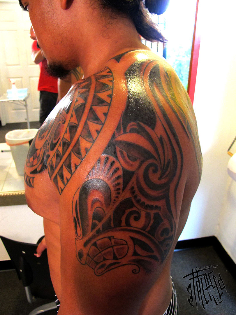 More ana ole poly tattoo work living in lava land for Weightlifting tattoo designs