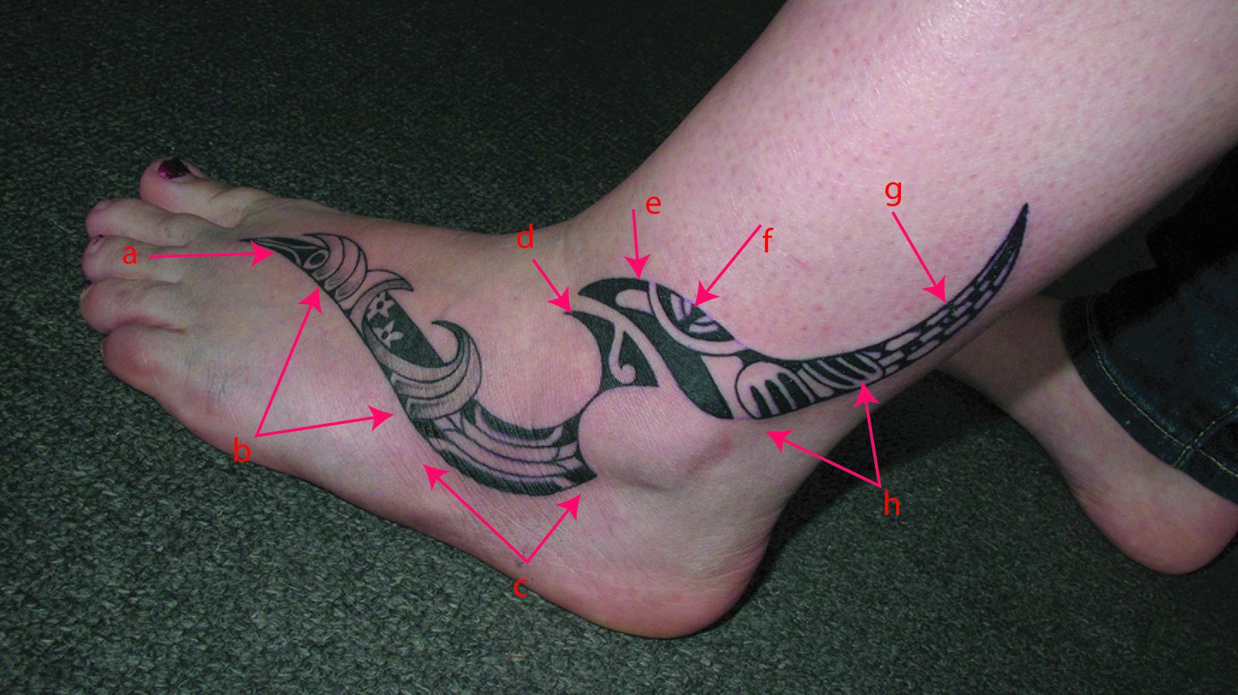 Ana'ole, Marquesan, Maori Foot Tattoo