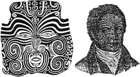 Maori moko design